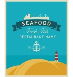 restaurant or seafood store vector image
