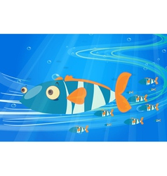 School of fish in the sea vector image