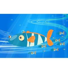 School of fish in the sea vector