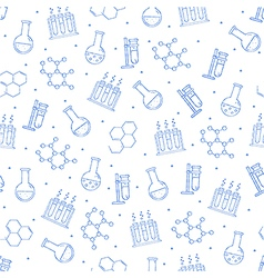Science pattern blue icons vector