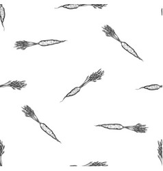 seamless pattern with black and white carrot vector image