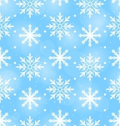 Seamless Wallpaper with Different Snowflakes vector
