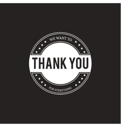 Set of badges with thank you vector image