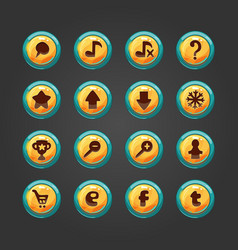 Set of button for game design-2 vector