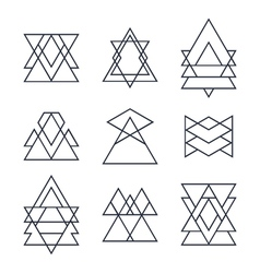 Set of geometric shapes for your design Trendy vector image