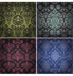 set vintage patterns vector image