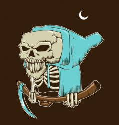 skeleton death vector image