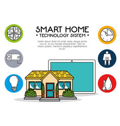 Smart home technology system vector