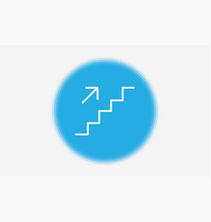 stairs icon sign symbol vector image