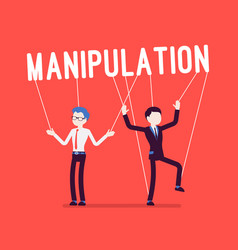string manipulation puppet people on red vector image
