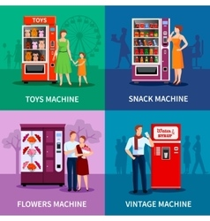 Stylish Colorful Vending Machines vector