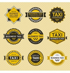 Taxi badges - vintage style vector image