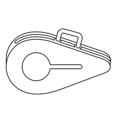 Tennis bag icon outline style vector image