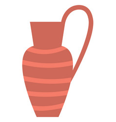 Terracotta vessel crockery container with handle vector