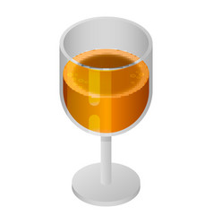 top beer glass icon isometric style vector image