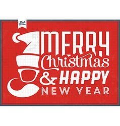 Typographic Christmas Vintage Background vector