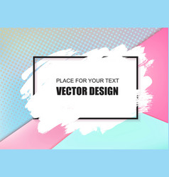 universal banner frame and place for text vector image