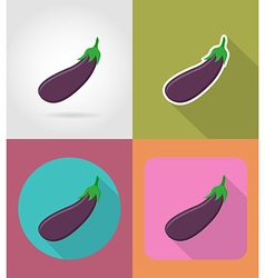 Vegetables flat icons 09 vector