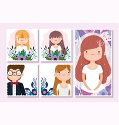 wedding groom and bride flower celebration vector image