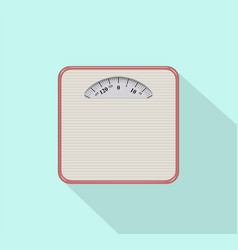 weight scale icon flat design vector image