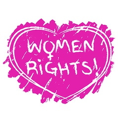 Women rights symbol vector
