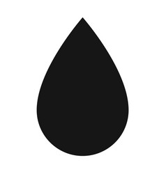 a drop of oiloil single icon in black style vector image vector image