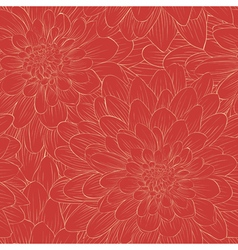 Beautiful seamless pattern with flowers vector image