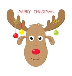 Christmas moose vector image vector image