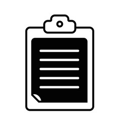contour check list business document in the vector image