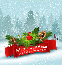 for merry christmas and happy new vector image