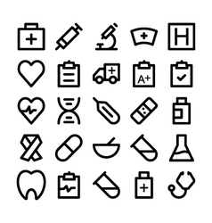 Health Icons 1 vector image vector image