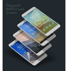 lockscreen mobile ui smartphone mockup vector image vector image