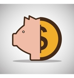 piggy money currency cash icon vector image