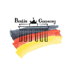 travel germany sign berlin famous brandenburg vector image vector image