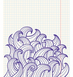 abstract doodles vector image vector image