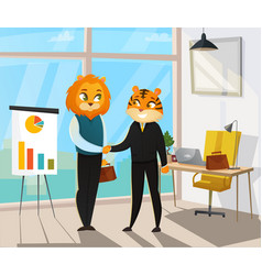 business animals poster vector image