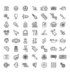 Car parts line icons set vector image vector image