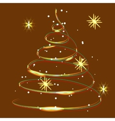 Glowing Christmas light snow and snowflakes vector image