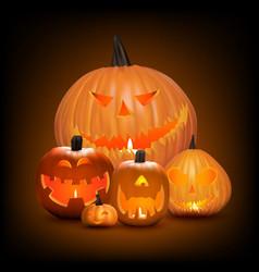 halloween background pumpkins vector image vector image