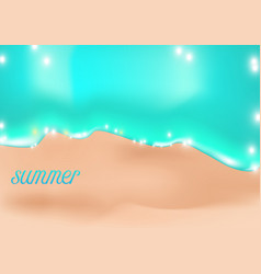 summer holiday tropical happiness is beach vector image