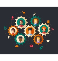 abstract people business composition vector image