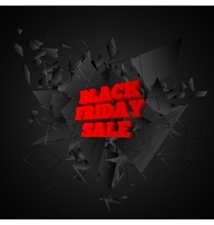 Black friday sale banner Abstract black explosion vector image vector image