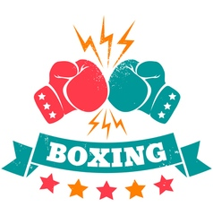 boxing retro vector image vector image