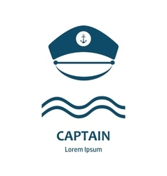 Captain hat flat icon vector image