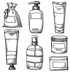 Cosmetics packaging design vector image