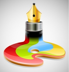 ink pen as symbol of visual vector image vector image