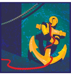 nautical theme vintage vector image