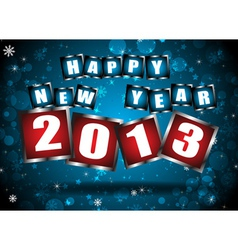 New year 2013 in blue background vector image vector image