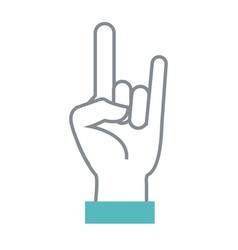 rock and roll hand symbol vector image vector image