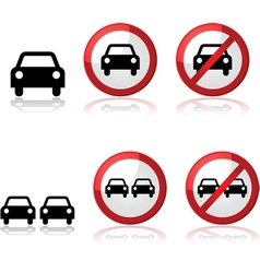 Car signs vector image vector image